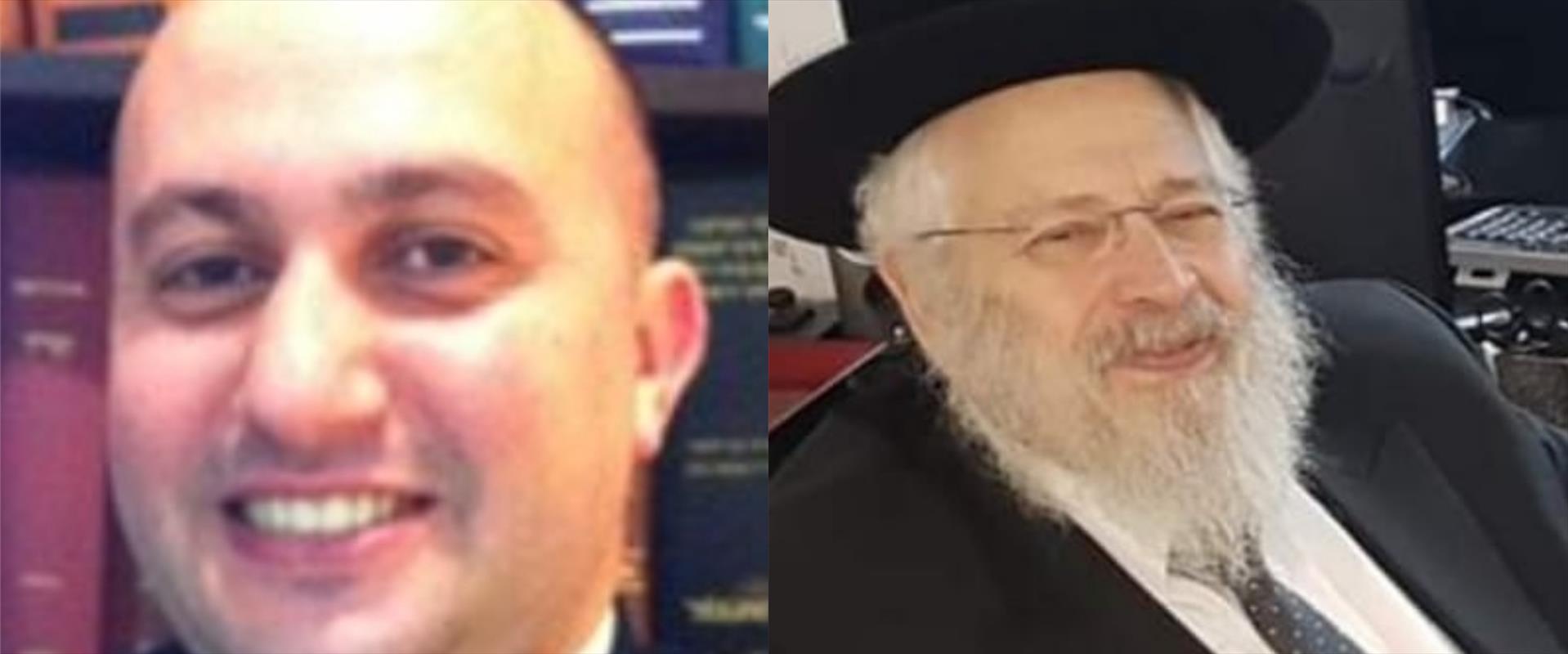 """הרב מאיר דרוקמן ועו""""ד איימן אבו-ריא"""