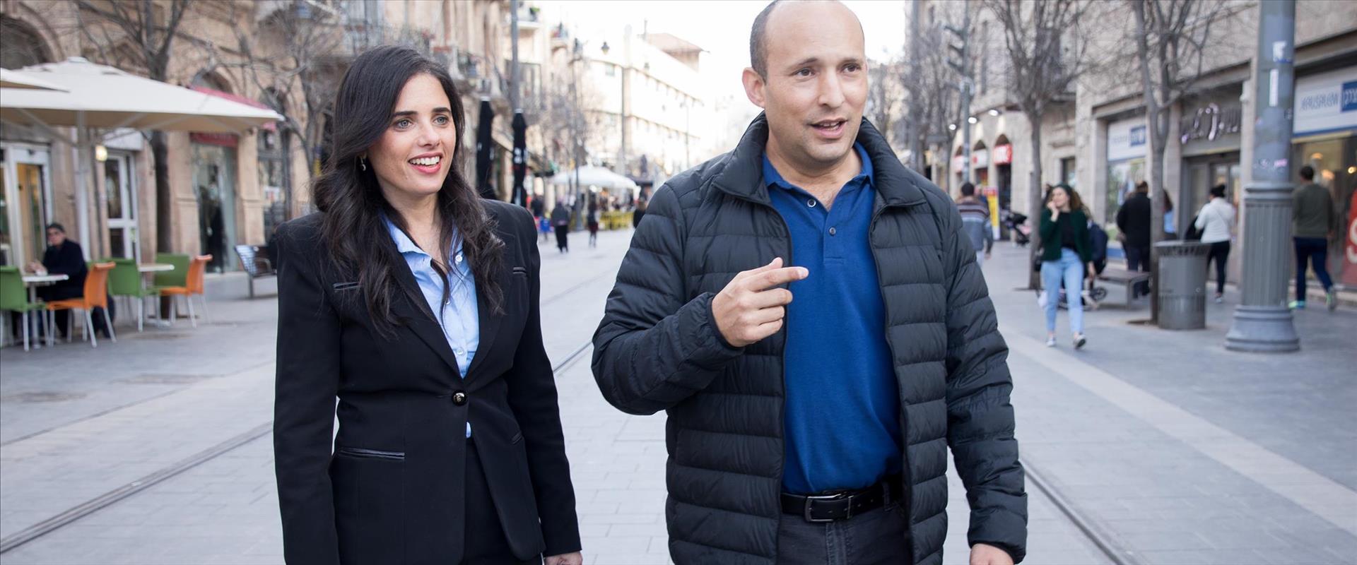 בנט ושקד מסיירים בירושלים, בשבוע שעבר