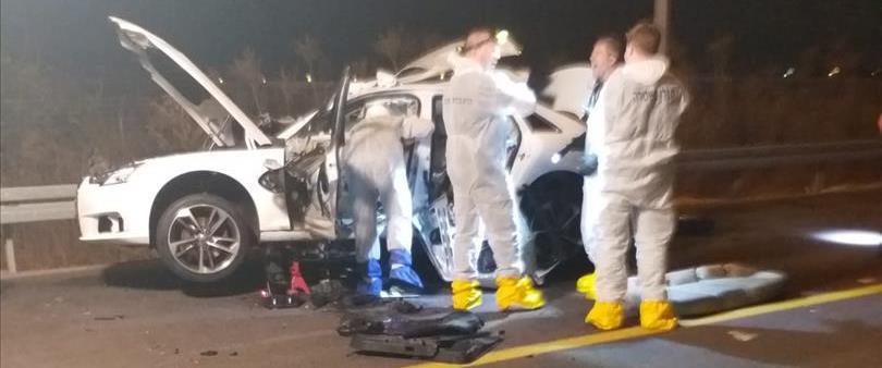 זירת פיצוץ הרכב בכניסה לאור יהודה
