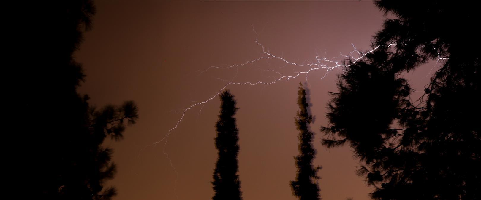 סופת ברקים בירושלים