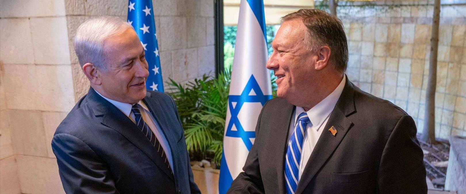 פגישת שר החוץ האמריקני מייק פומפאו עם ראש הממשלה נ