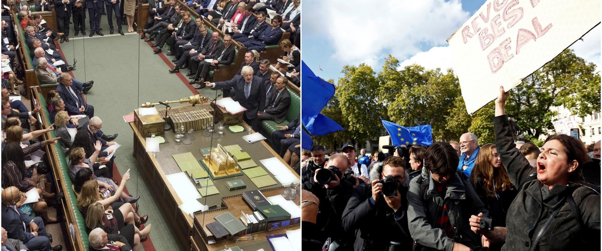 הפרלמנט הבריטי והמחאה בלונדון