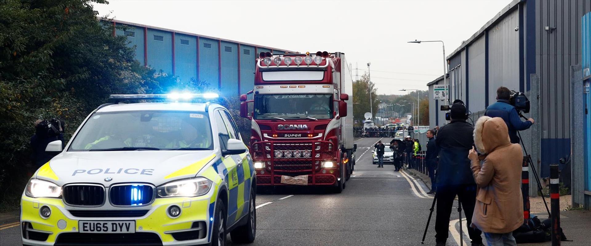 זירת מציאת הגופות באסקס בבריטניה 23.10.19