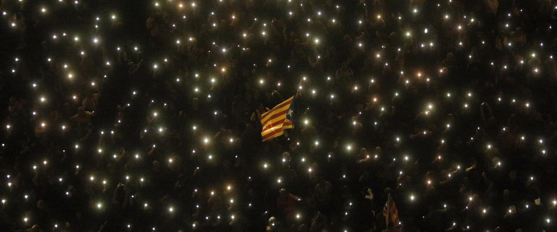 מפגינים בברצלונה