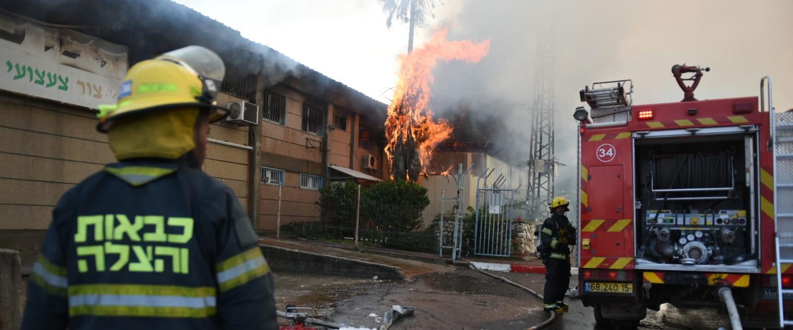 כיבוי הדליקה במפעל בשדרות, היום