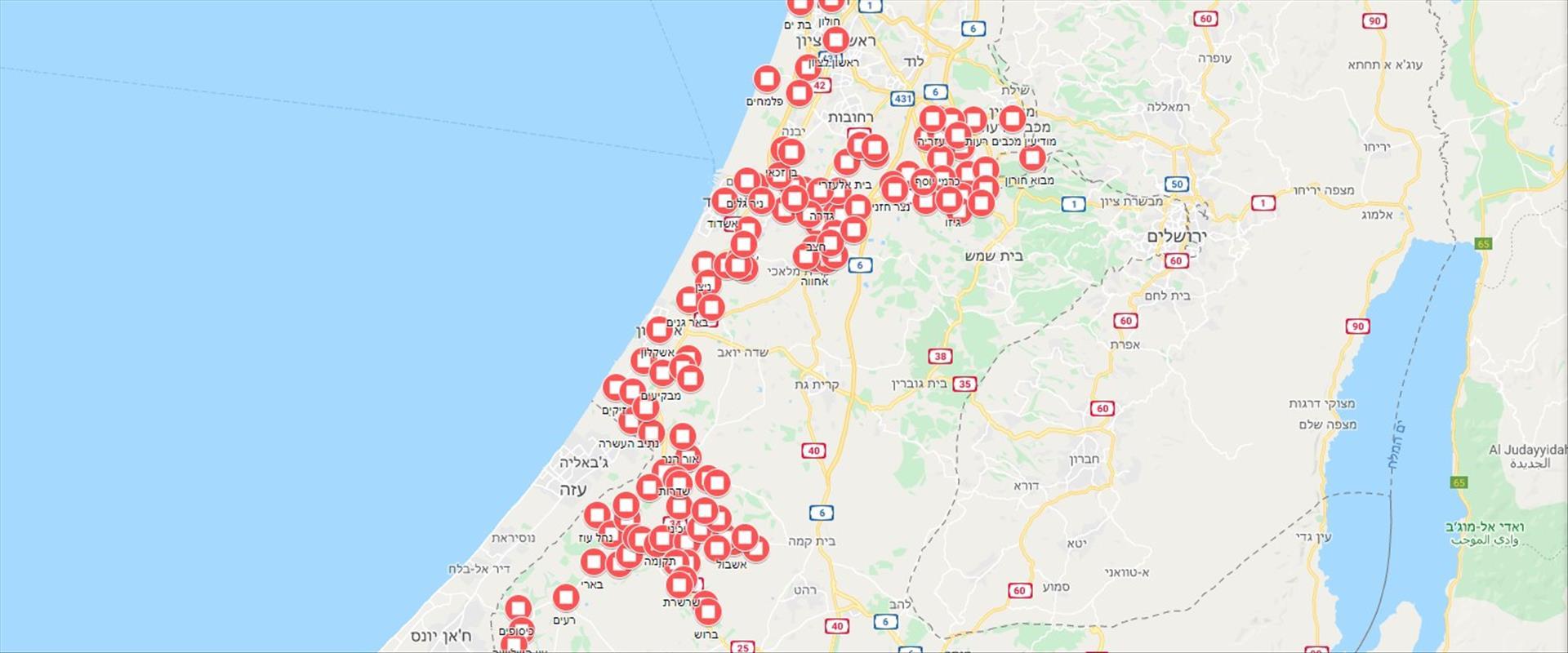 המפה המתעדכנת