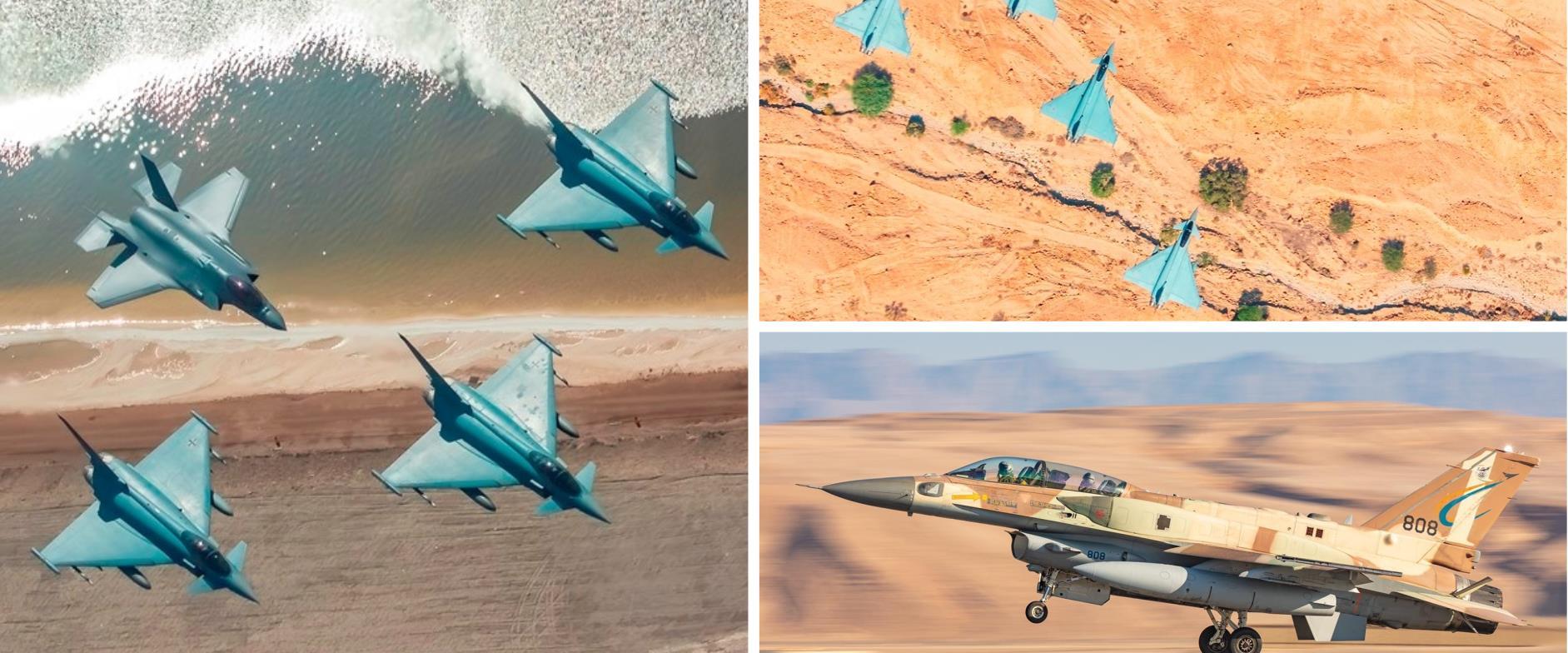 """מטוסי F-35 בתרגיל ה-""""blue flag"""" הבין-לאומי של חיל"""