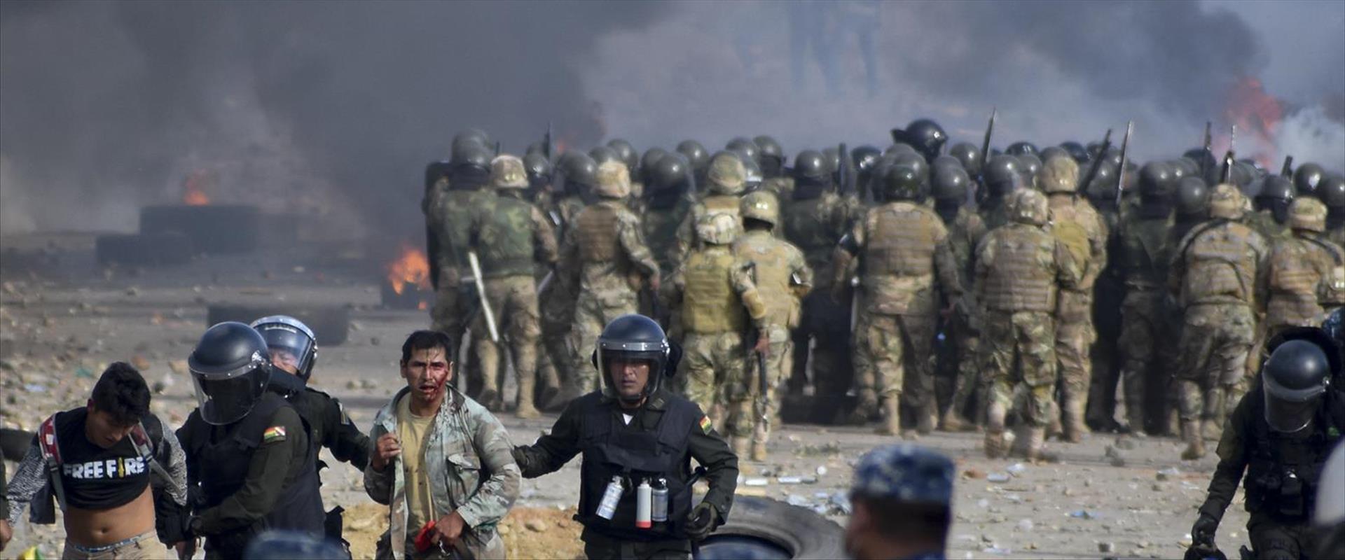 עימותים בבוליביה בין תומכי מוראלס לכוחות הביטחון