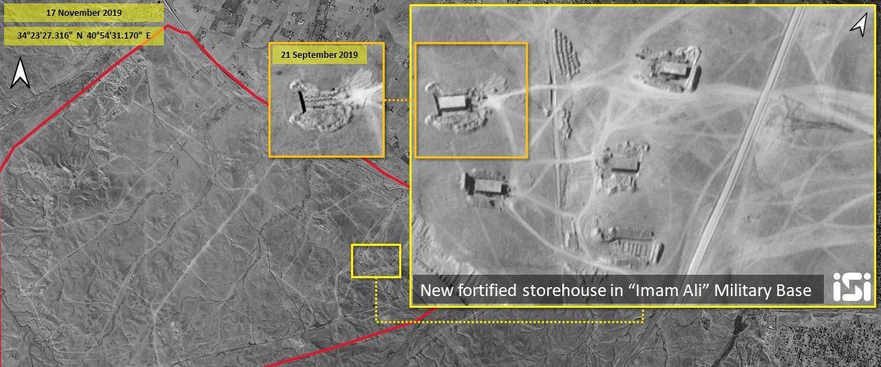"""אחד המבנים המרכזיים בבסיס """"אימאם עלי"""" שבאזור אלבוכ"""