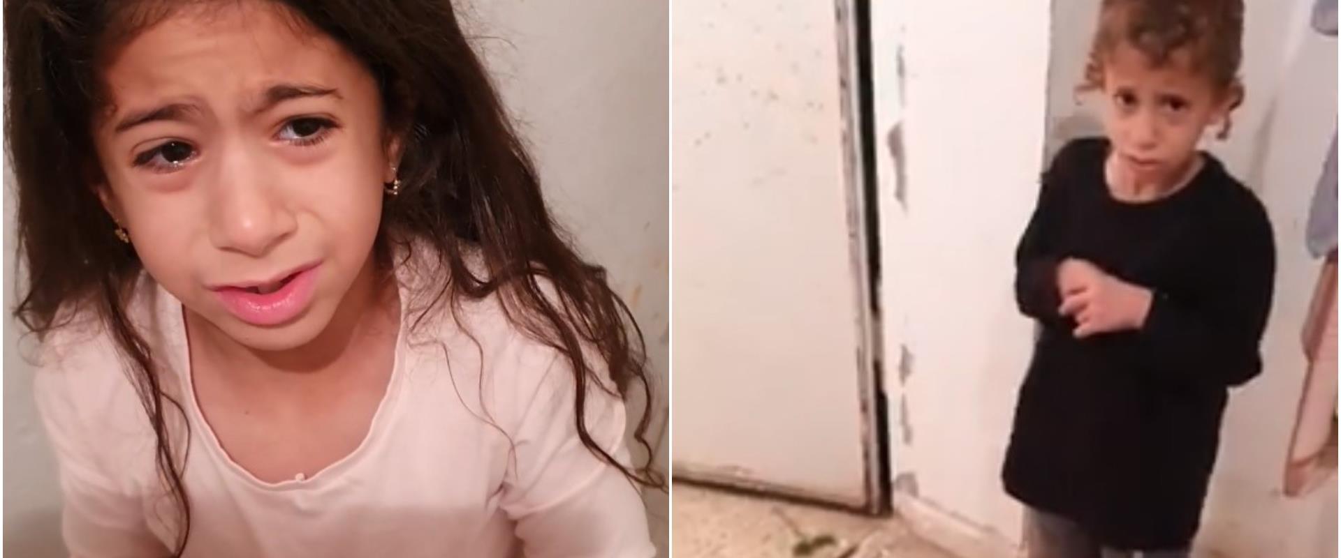 ילדיה של רעות שפילמן דרייר בזמן האזעקה אמש באשקלון