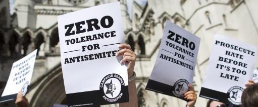 הפגנת יהודים נגד אנטישמיות