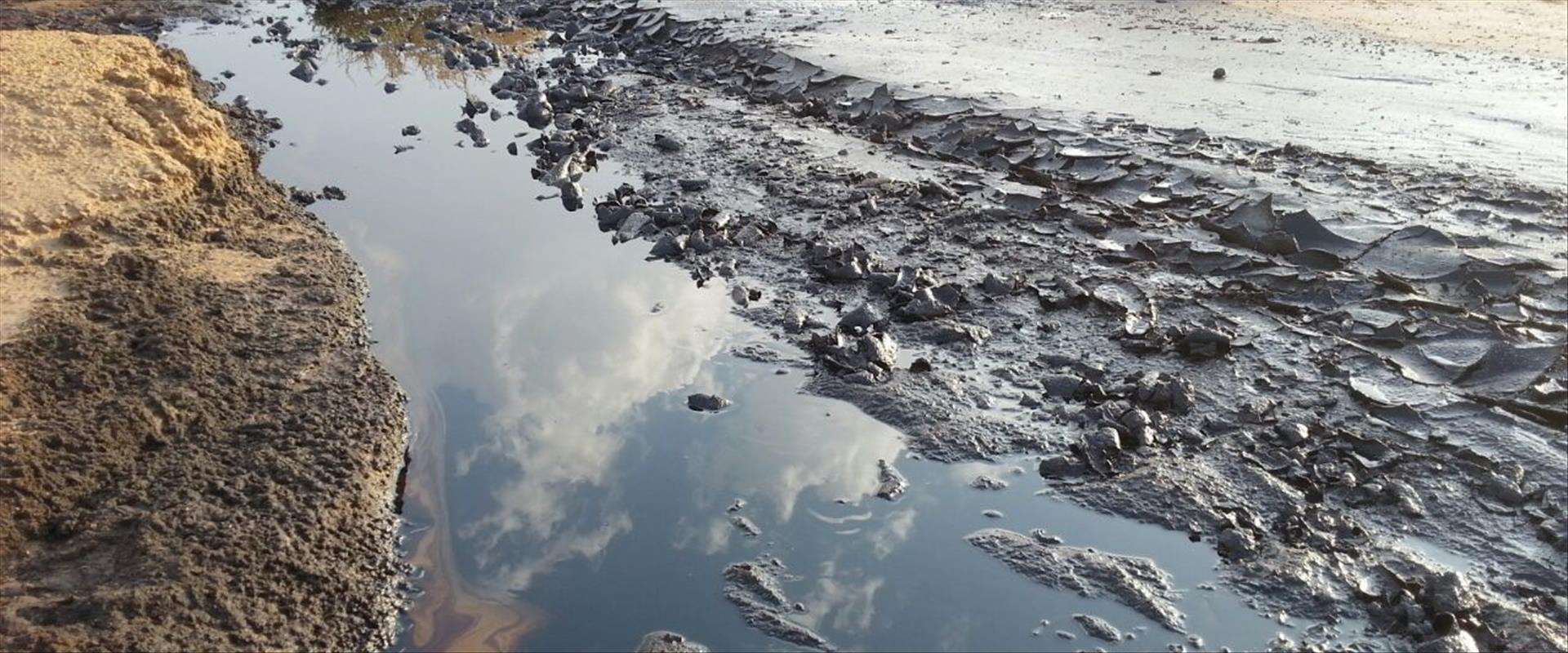 שמורת עברונה באירוע פריצת הנפט