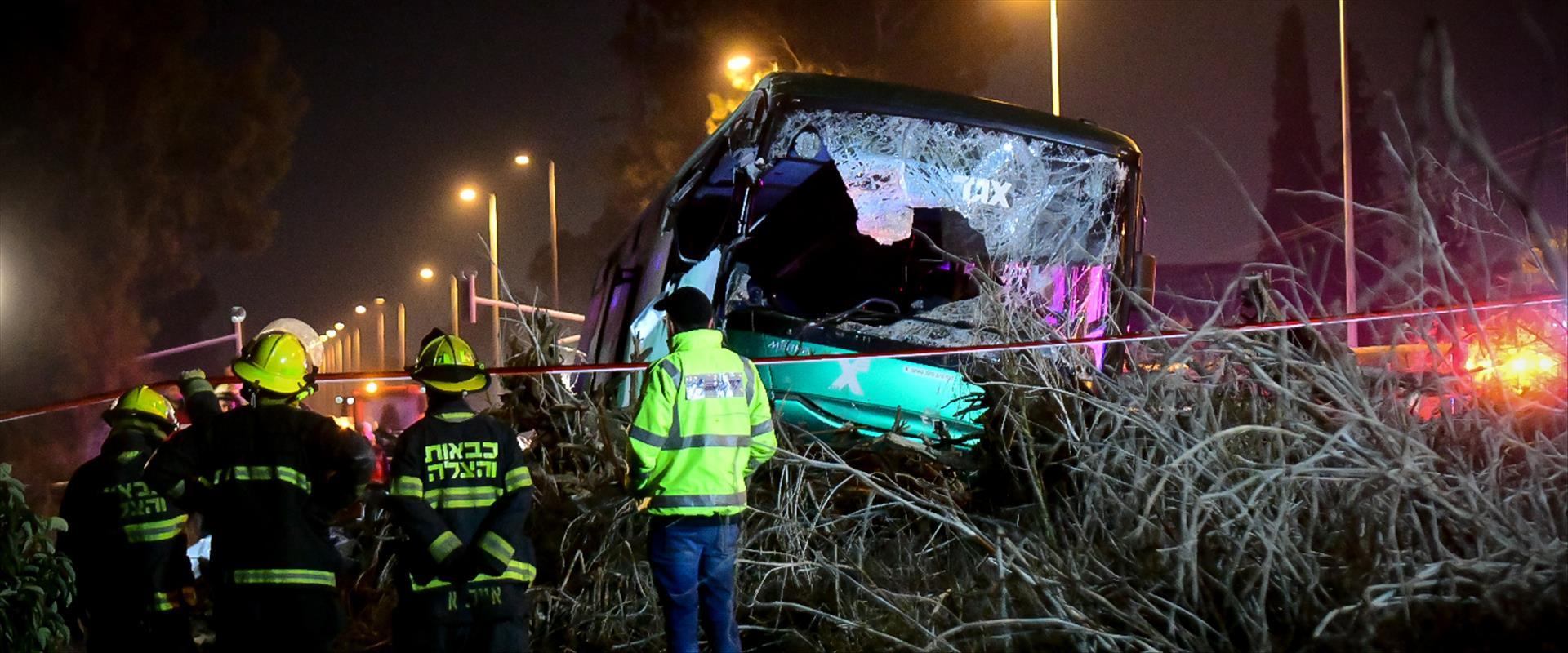 """תאונת האוטובוס ליד נתב""""ג"""