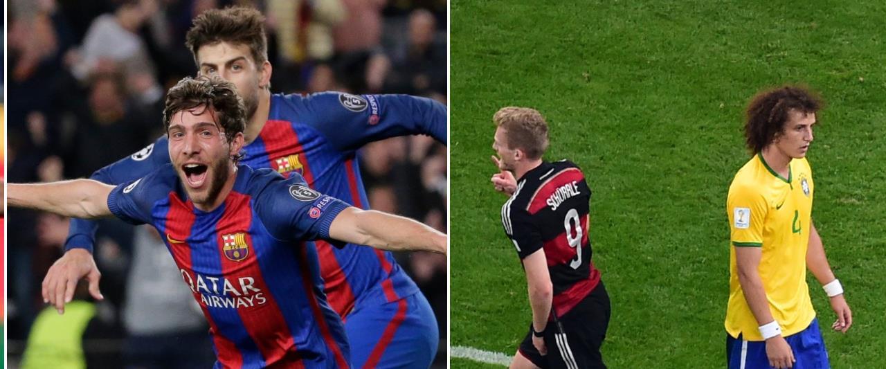 ברזיל נגד גרמניה, ברצלונה נגד פאריז