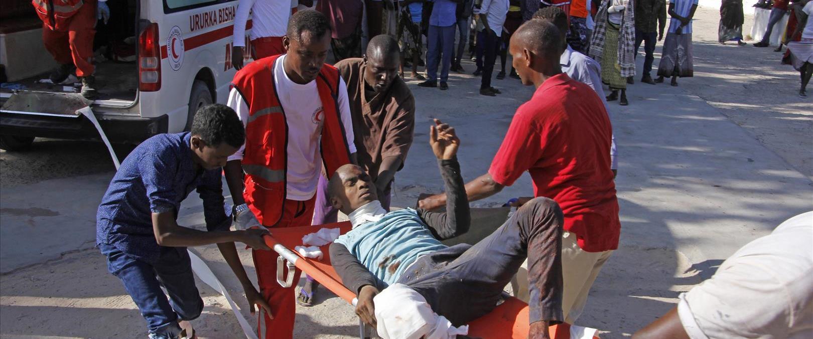 פצוע מהפיצוץ בסומליה מפונה