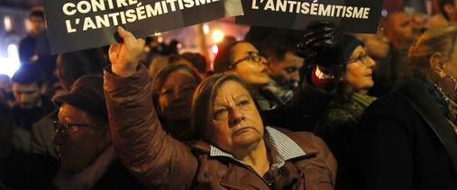 עצרת מחאה נגד אנטישמיות