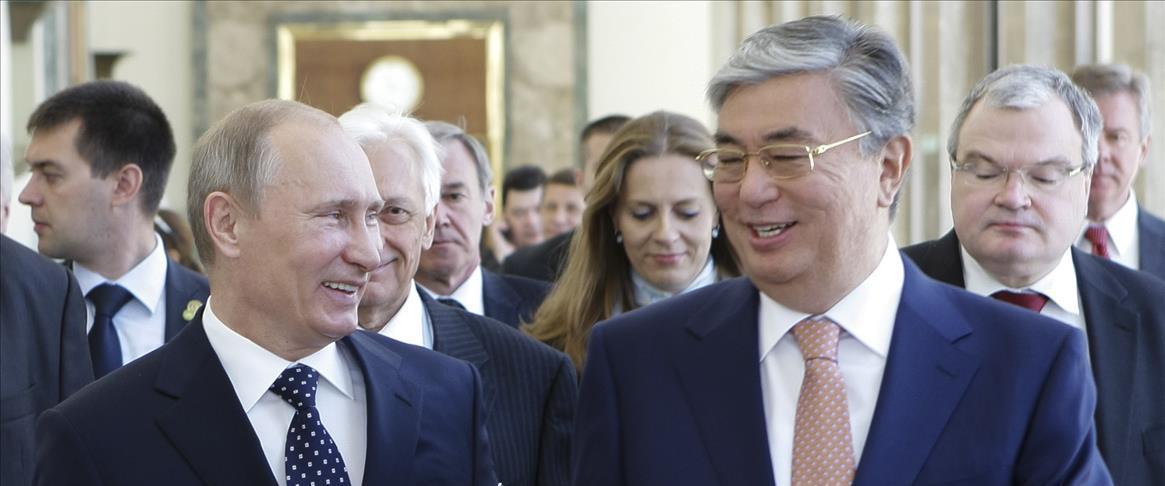 נשיאי קזחסטן ורוסיה
