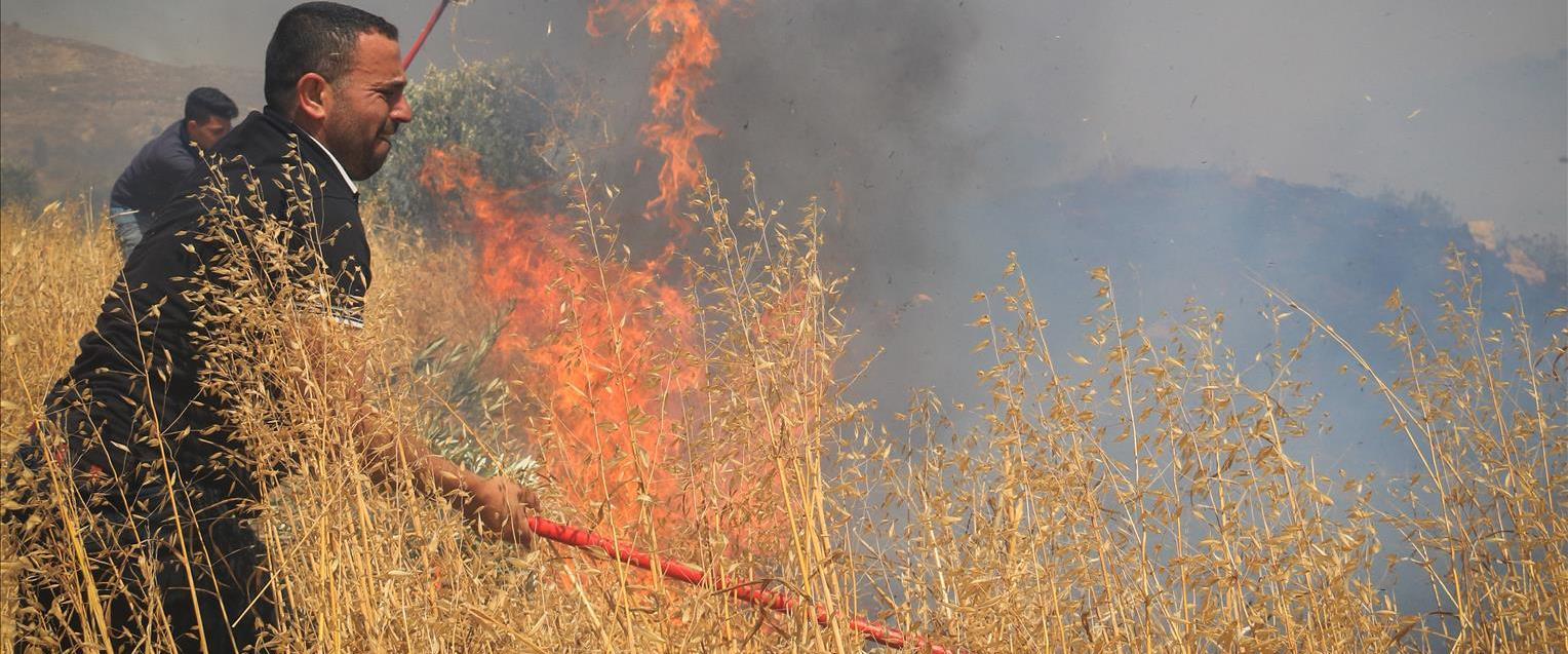 שריפה בעוטף עזה