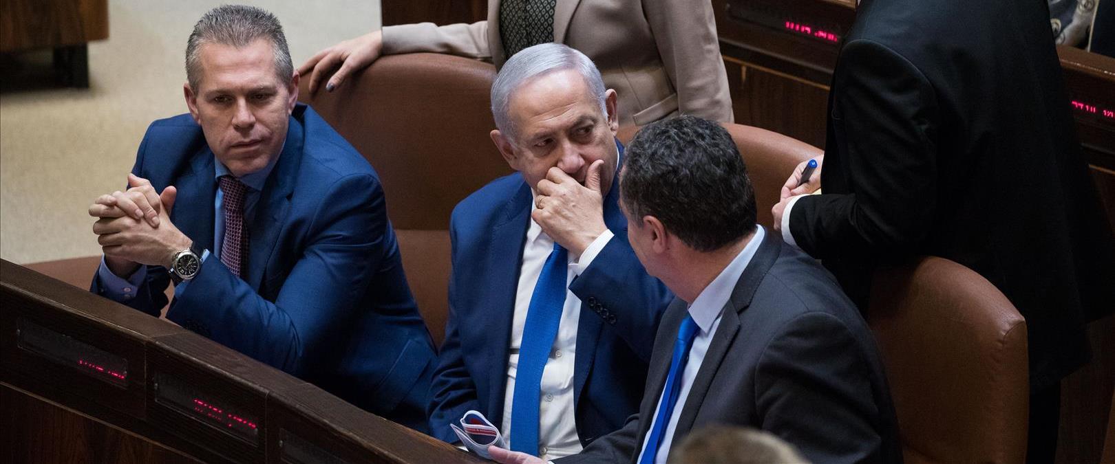 בנימין נתניהו, ישראל כץ, גלעד ארדן ומירי רגב