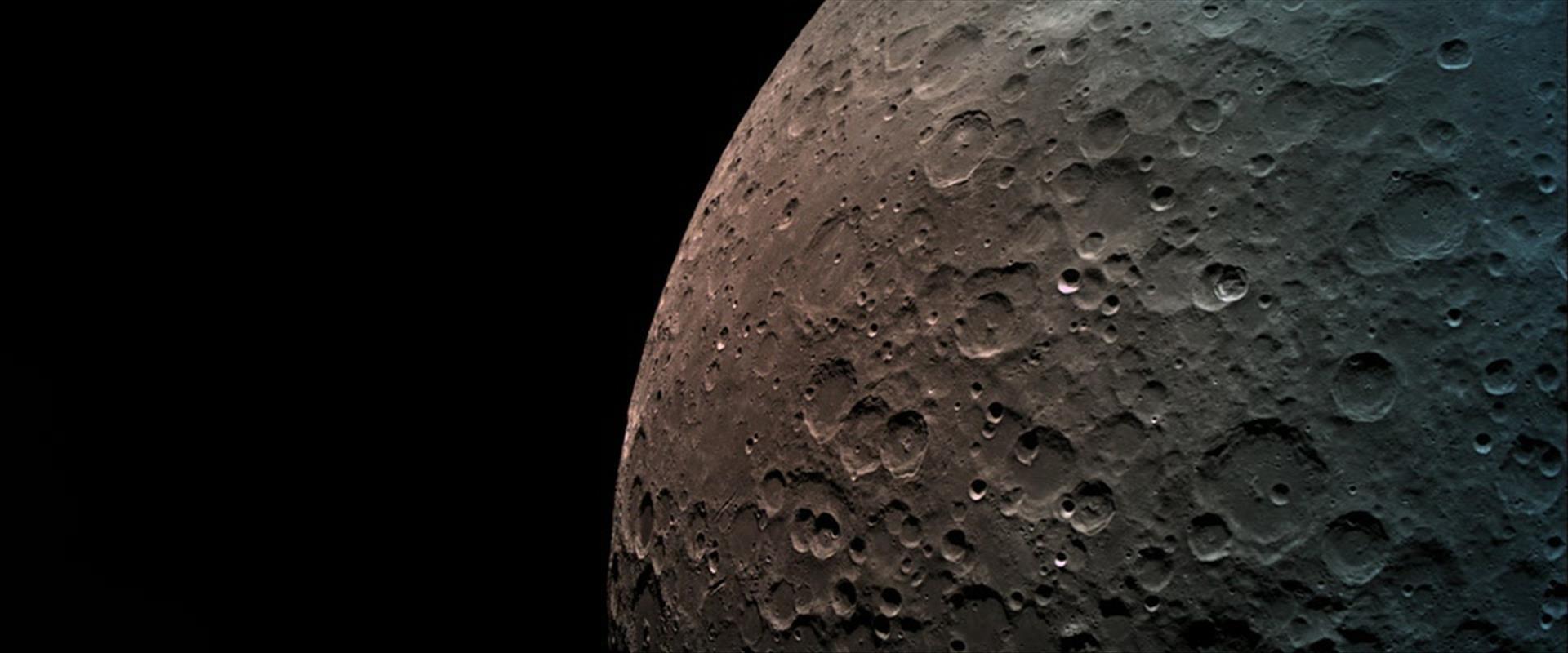 הירח כפי שצולם מהחללית בראשית