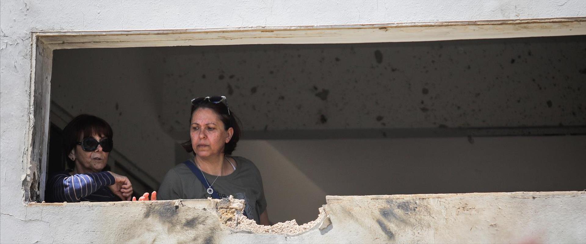 בית בדרום שנפגע מרקטה ששוגרה מעזה