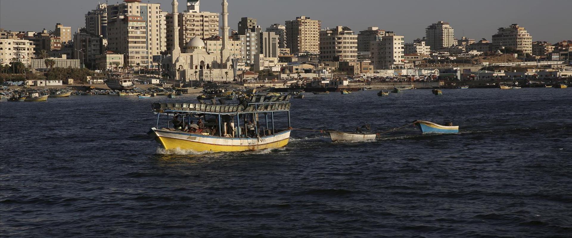 סירות דיג של פלסטינים ברצועת עזה