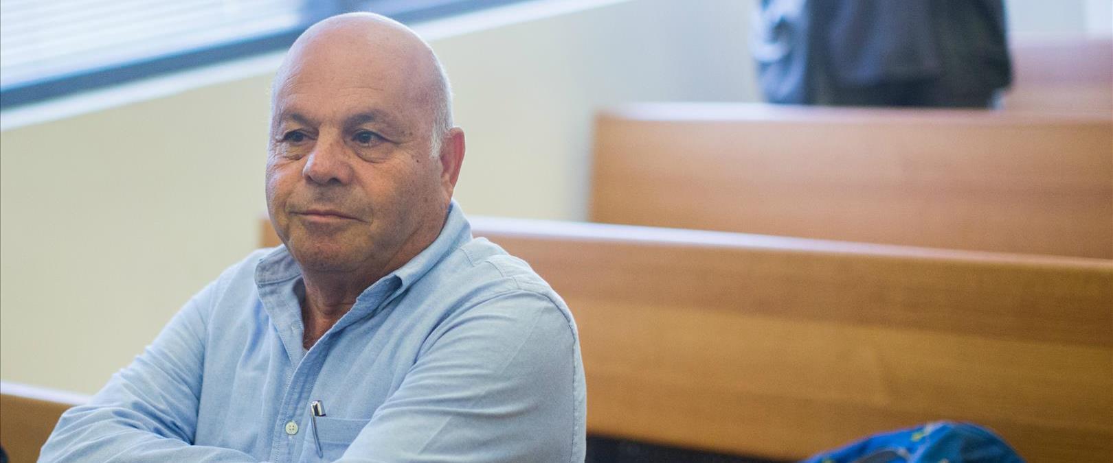 עזרא סיידוף בבית המשפט בירושלים, אוקטובר 2015