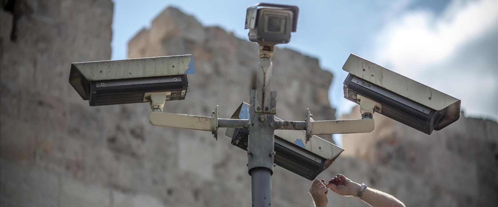 מצלמות אבטחה בעיר העתיקה בירושלים