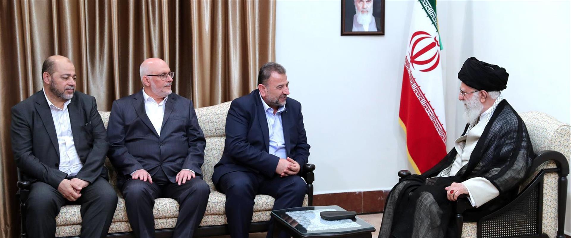 פגישת בכירי חמאס עם חמינאי באיראן 22.07.19