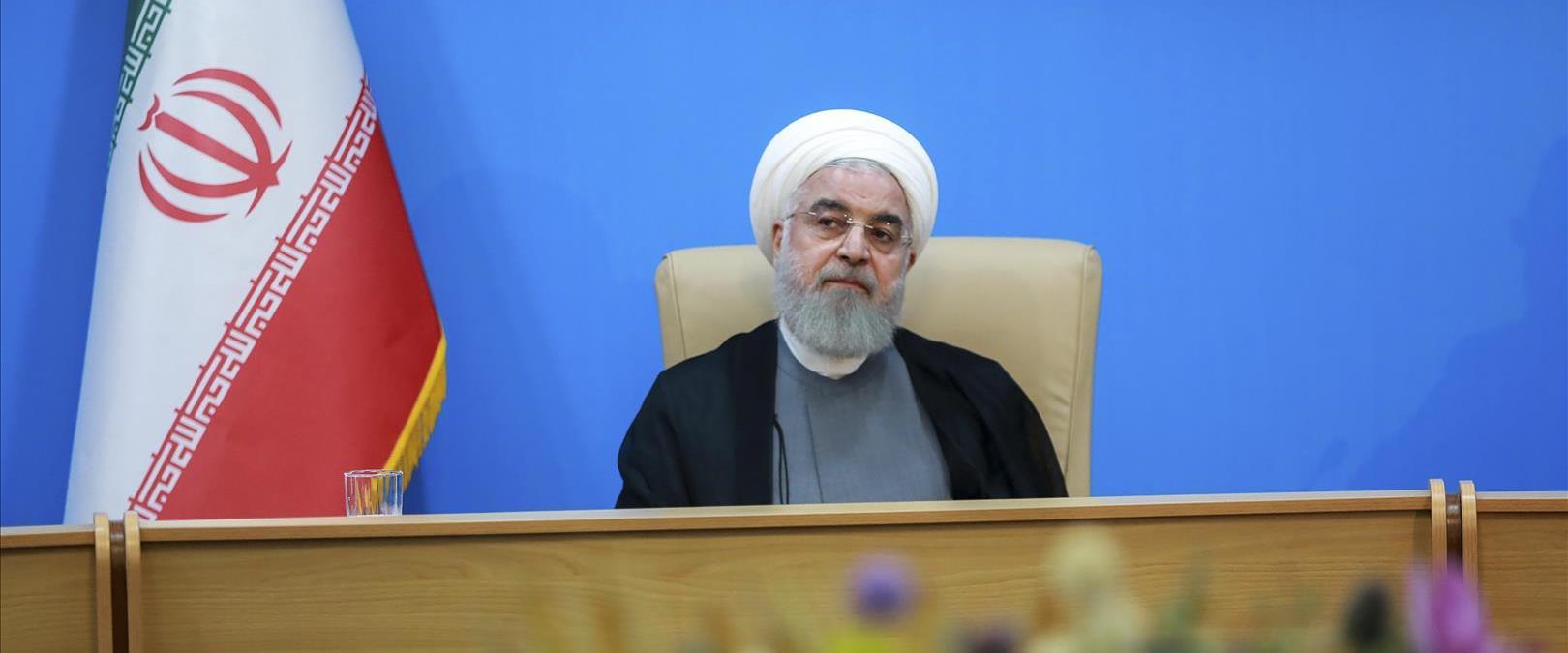 נשיא איראן רוחאני, בחודש שעבר