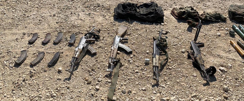 הנשק שנתפס על המחבלים