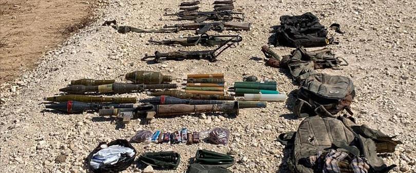 הנשק שנמצא על המחבלים