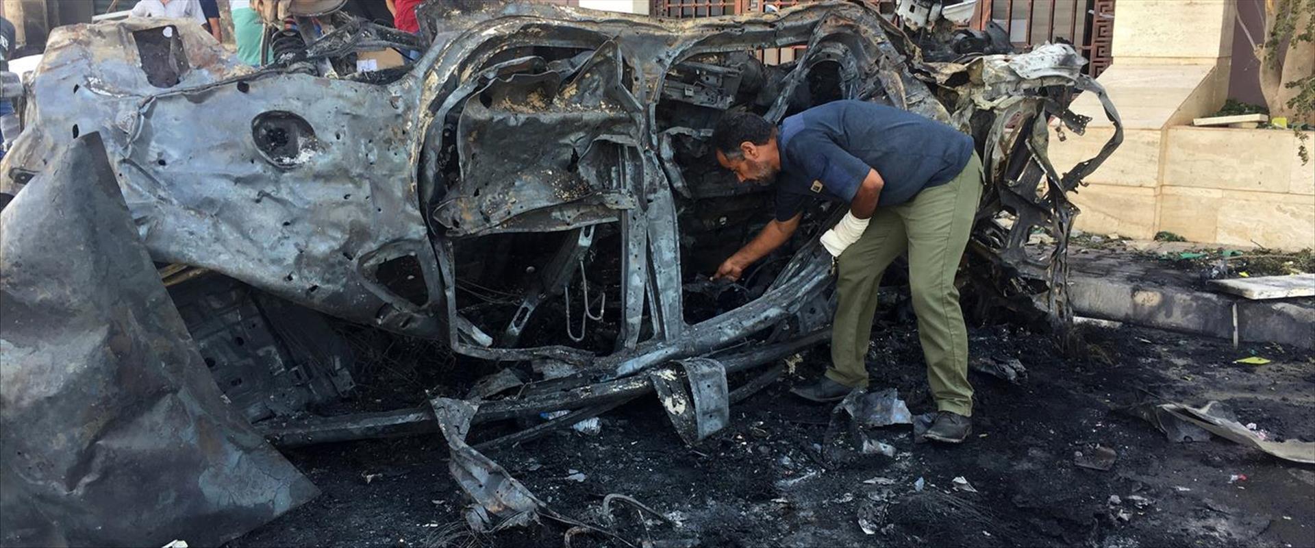 מכונית התופת שהתפוצצה בנגאזי הלילה