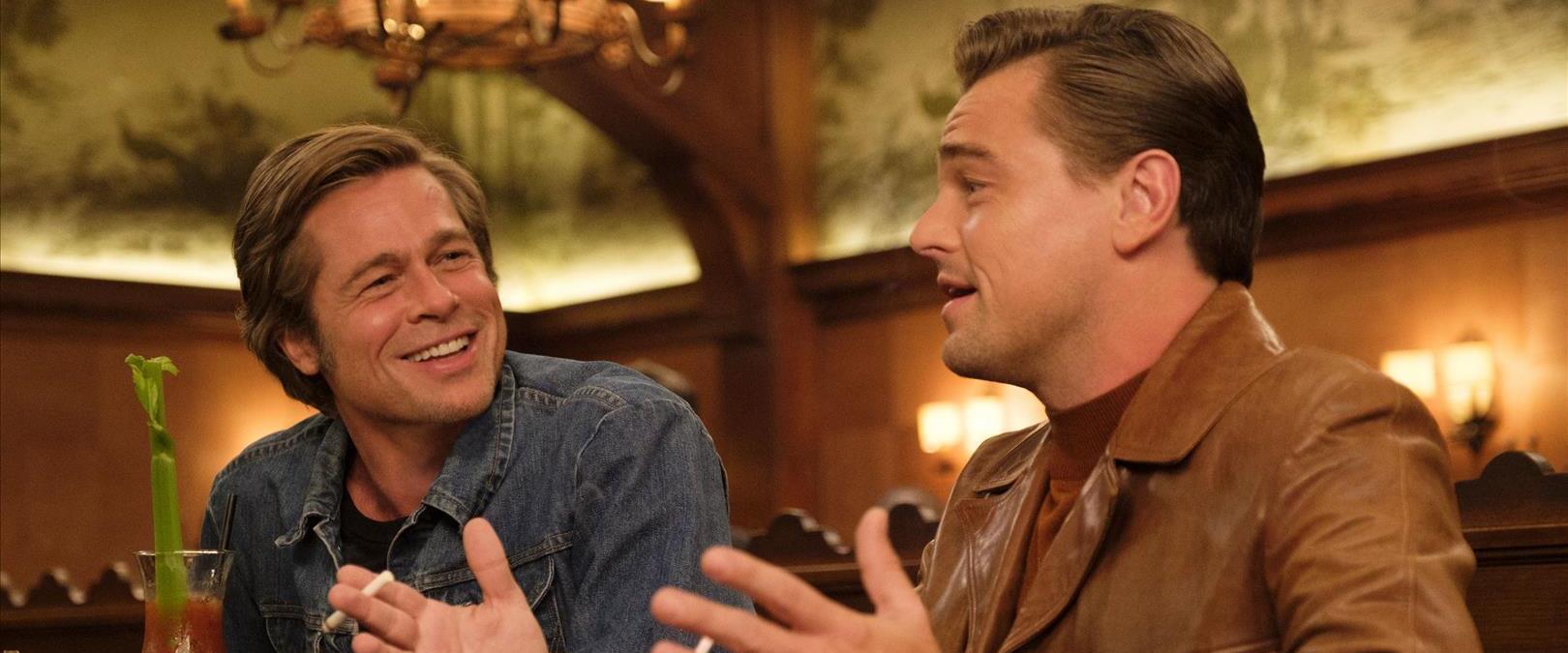 """ליאונרדו דיקפריו ובראד פיט ב""""היו זמנים בהוליווד"""""""