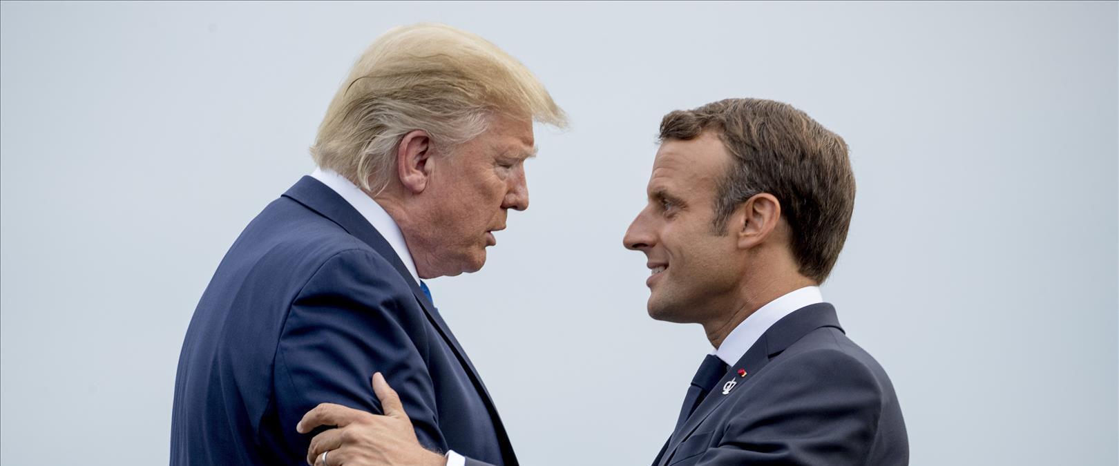 טראמפ ומקרון
