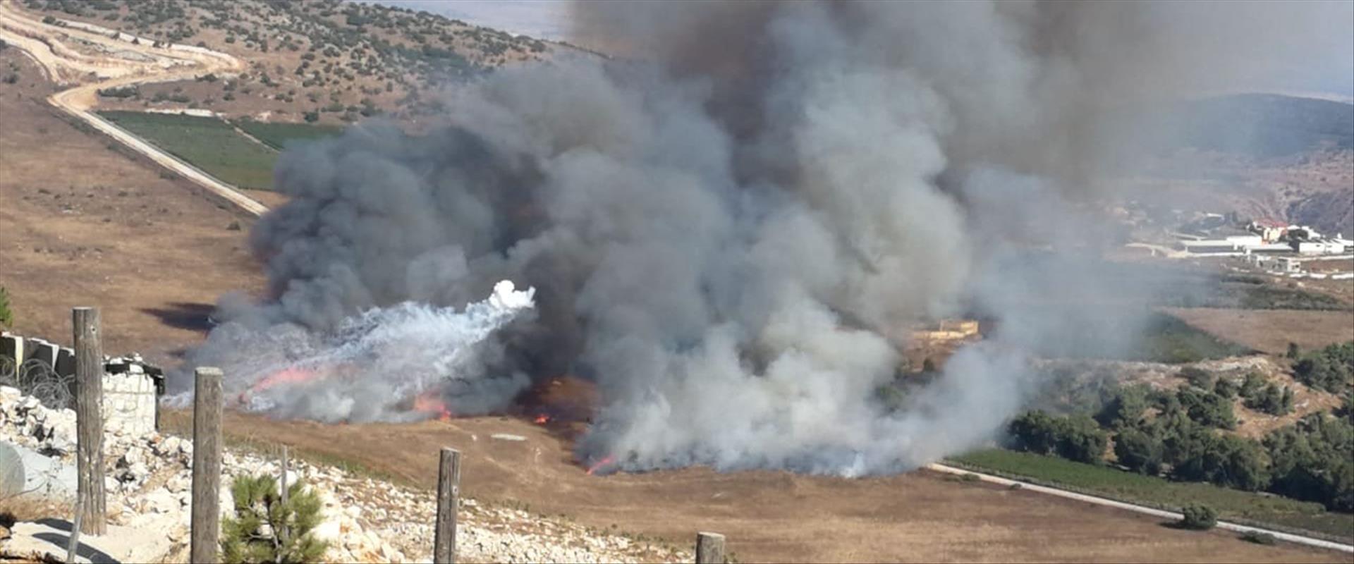 """ירי חיזבאללה לעבר כוח צה""""ל בגבול ישראל-לבנון ביום"""
