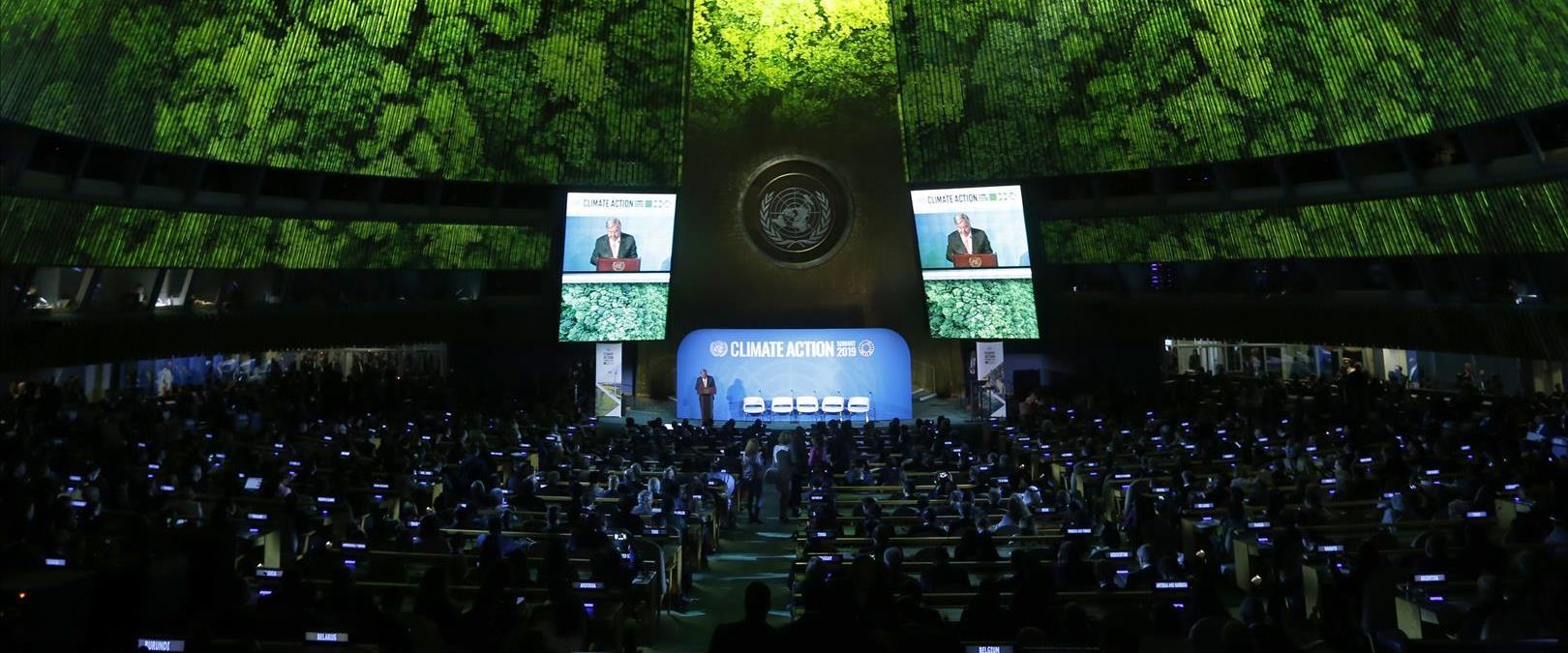 """מזכ""""ל האו""""ם אנטוניו גוטרש בוועידת האקלים בעצרת הכל"""