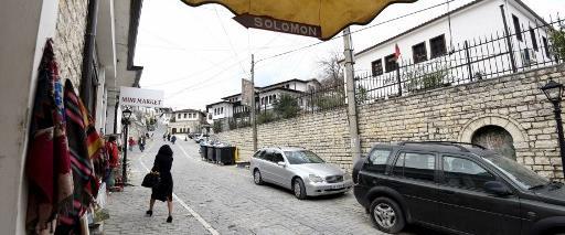 כניסה למוזיאון היהודי בעיר בראט באלבניה