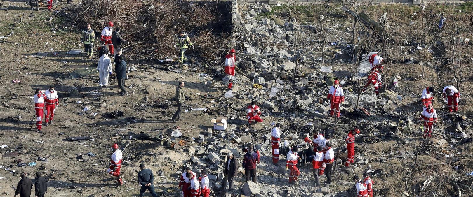 זירת התרסקות המטוס באיראן, השבוע