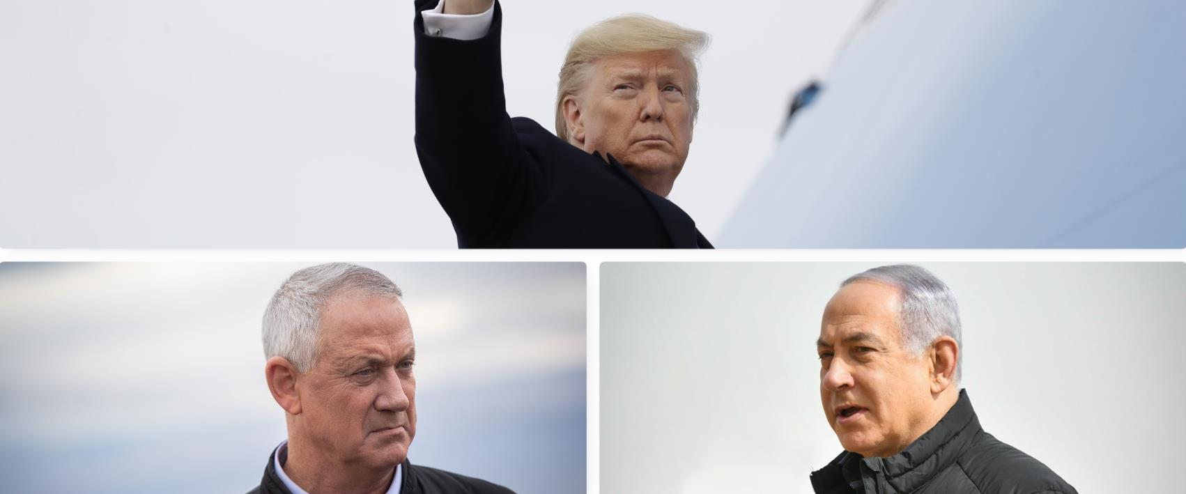 ייפגשו בשלישי. טראמפ, נתניהו וגנץ