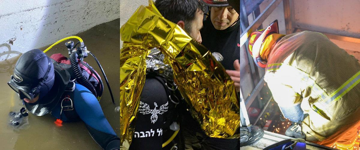 חילוץ ההרוגים מהמעלית בתל אביב