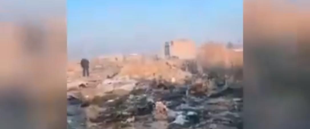 זירת ההתרסקות בטהראן, הבוקר