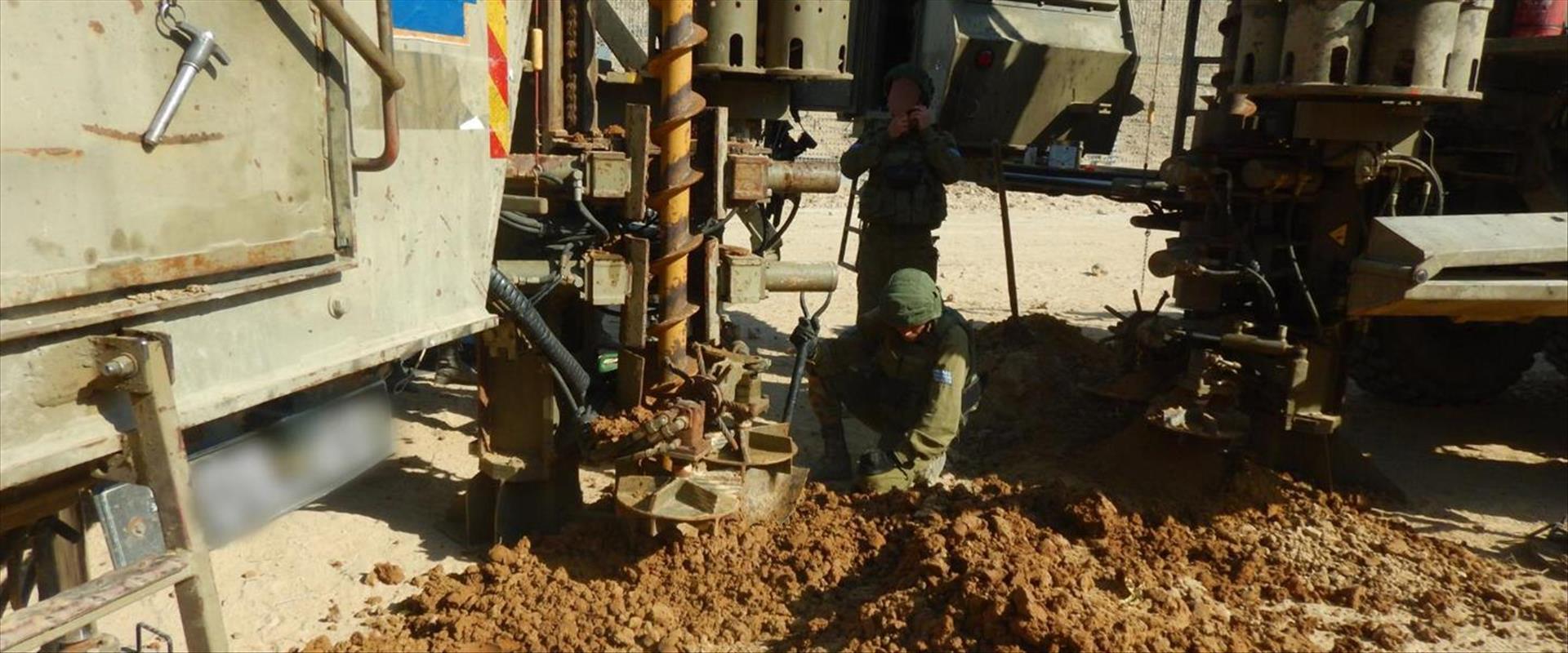 """פעילות כוח צה""""ל באזור בו אותרה המנהרה מרצועת עזה 2"""