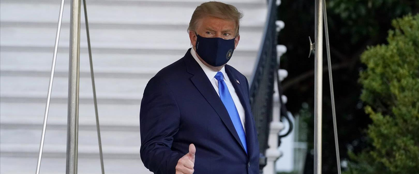 טראמפ בדרכו לבית החולים