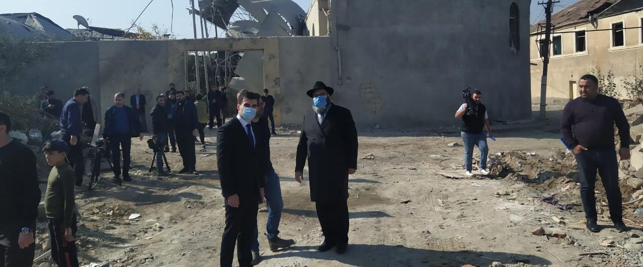 חברי הקהילה היהודית באזרבייג'ן במוקדי ההפצצה של אר