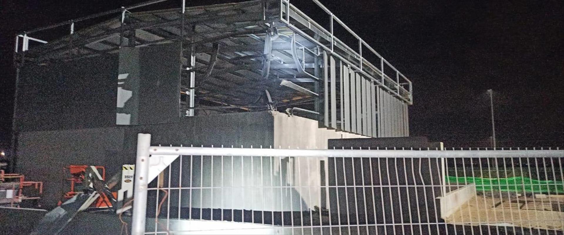 הפגיעה במפעל באשקלון, אתמול