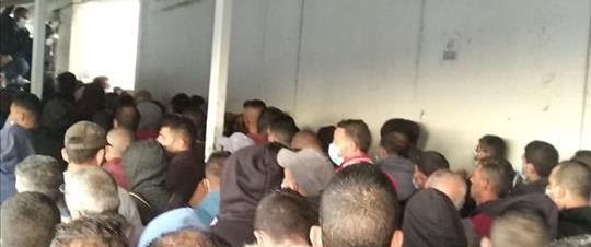 פועלים פלסטינים במחסום בית לחם