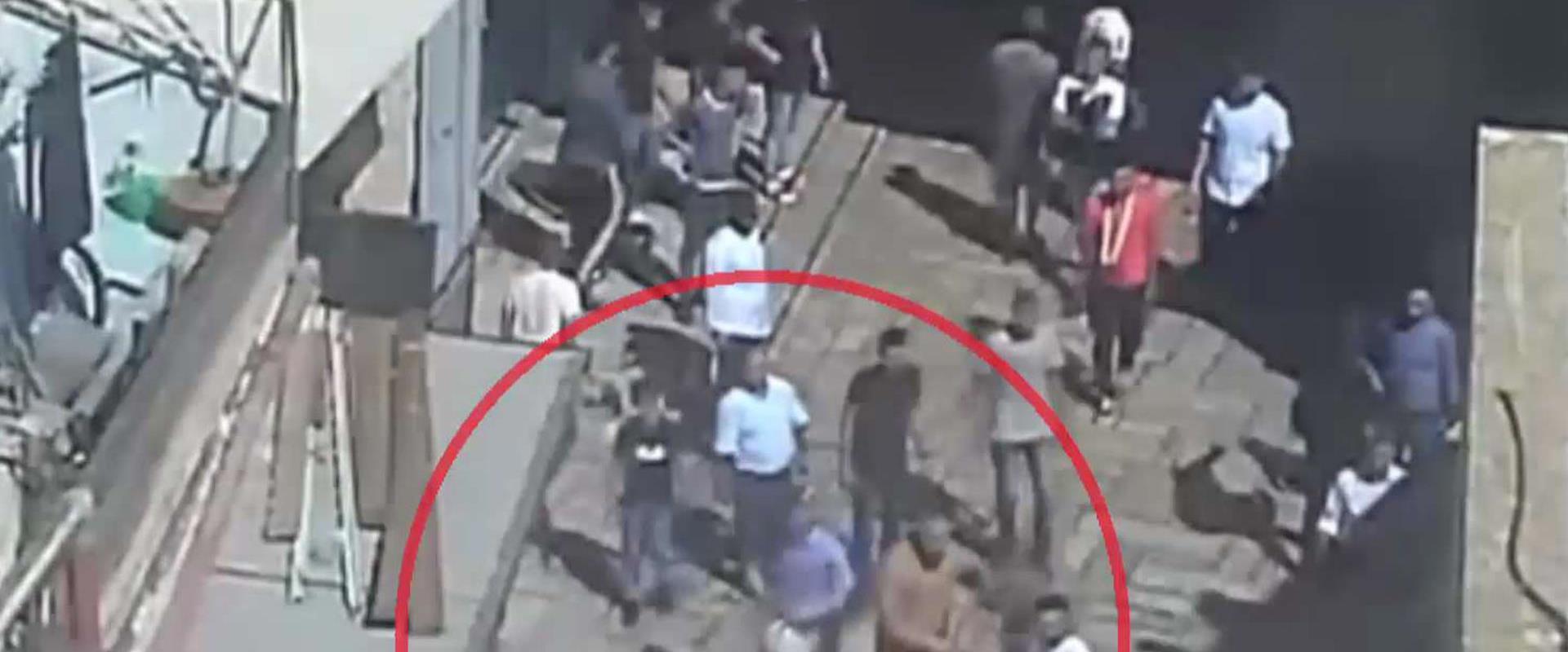צילום מסך מתוך תיעוד התקיפה, אוגוסט 2019