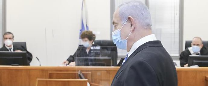 נתניהו בדיון הראשון במשפטו במאי האחרון