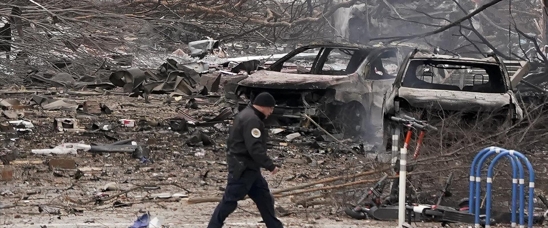 ההרס לאחר הפיצוץ